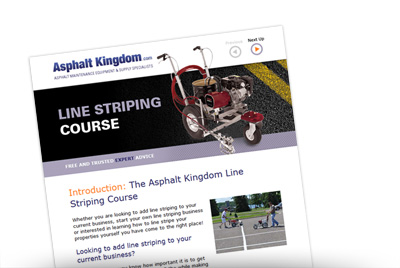 Free Sealcoating and Line Striping Email Courses