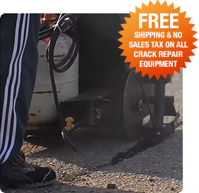 Free shipping and no taxes on all crack repair equipment at Asphalt Kingdom